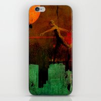 takmaj iPhone & iPod Skins featuring Jump on the green city by Ganech joe