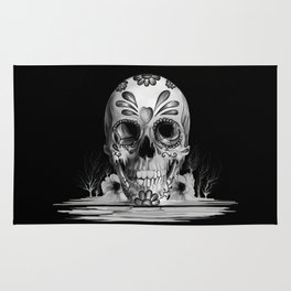 Pulled sugar, day of the dead skull Rug