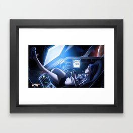 space out 88 print Framed Art Print