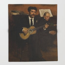 Lorenzo Pagans and Auguste de Gas by Edgar Degas Throw Blanket