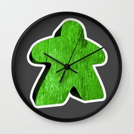 Giant Green Meeple Wall Clock