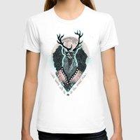 wind T-shirts featuring Wind:::Deer by Süyümbike Güvenç