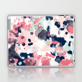 Lola - Painted abstract trendy color palette minimal decor nursery home Laptop & iPad Skin