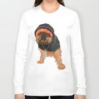 gangster Long Sleeve T-shirts featuring Gangster Digby by Michele Nicolette