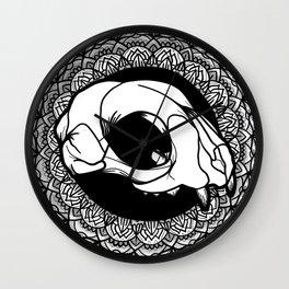 Feline Cranium Dimensional Mandala Wall Clock