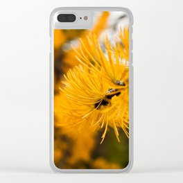 Golden Needles Clear iPhone Case