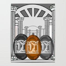 Necropolis Coins Palladium, Platinum and Copper 4 Poster
