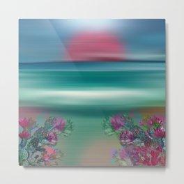 """""""Summer Beach Seascape"""" Metal Print"""