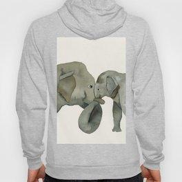 Mom and baby elephant Hoody