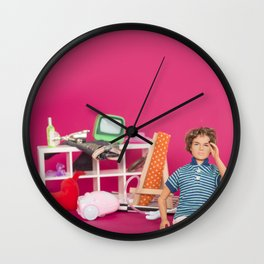 Tidy my room Wall Clock