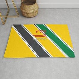 Ayrton Senna Stripes Logo Rug
