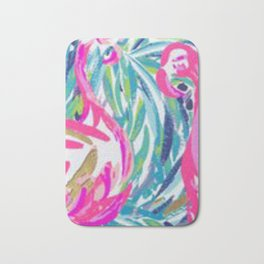 Tropical Flamingo inspired by Lily Bath Mat