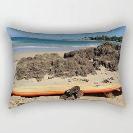 Warm Tropical Waves Rectangular Pillow