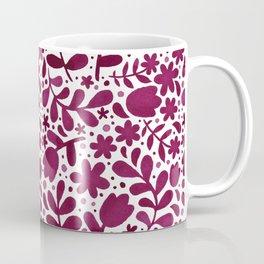 Folk Floral-purple Coffee Mug