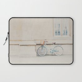 a mint green bicycle is the perfect way to travel around Cambridge Laptop Sleeve