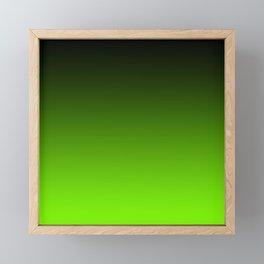Black and Chartreuse Ombre Framed Mini Art Print