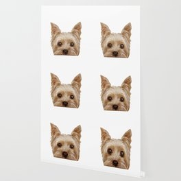Yorkshire Terrier original painting print Wallpaper