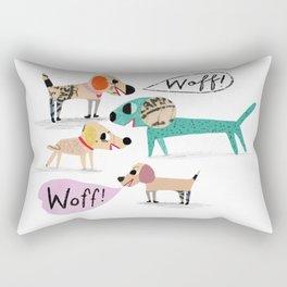 Woff! Rectangular Pillow