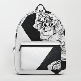 Pen and Ink Peony Backpack