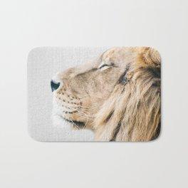 Lion Portrait - Colorful Bath Mat