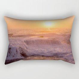 Sunset Rolling Waves Rectangular Pillow
