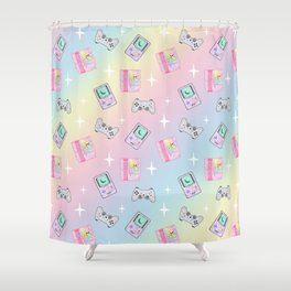 Magical Girl Gaming Rainbow Shower Curtain