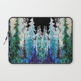 Western Turquoise Modern Art Mountain Trees Blue  Art Laptop Sleeve