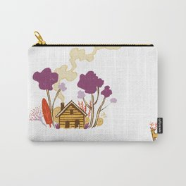 Cabin in Woods Carry-All Pouch