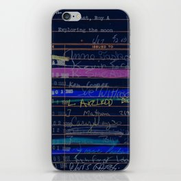 Library Card 3503 Exploring the Moon Negative iPhone Skin