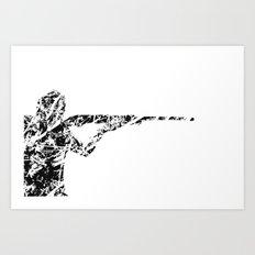 The man with the gun Art Print