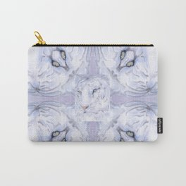 White Tiger Pattern Carry-All Pouch