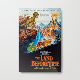 1988 The Land Before Time - Movie Film Poster Print Metal Print