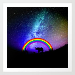 Rainbow Migration Art Print