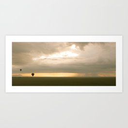 Sunrise over Serengeti Art Print