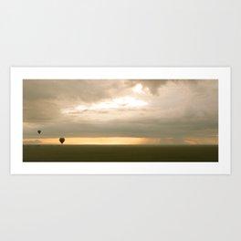 Sunrise over Serengeti Art Print