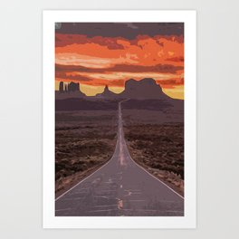 Arizona, Monument Valley Art Print