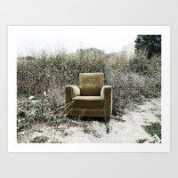 sofa Art Prints featuring Sofa by Mario Sa