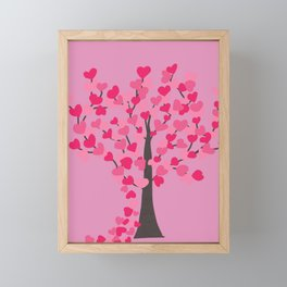 Tree of Hearts Framed Mini Art Print