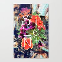 silent Canvas Prints featuring Silent by tomthebigbear