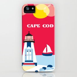 Cape Cod, Massachusetts - Skyline Illustration by Loose Petals iPhone Case