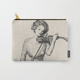 Pencil drawing -Charles Dana Gibson -The Gibson Girl-With a violin.. Carry-All Pouch