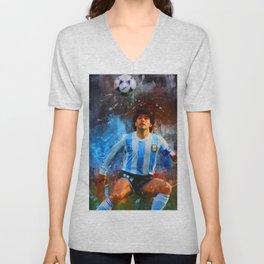 Diego Maradona Unisex V-Neck
