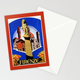 Florence Firenze travel, lion statue Stationery Cards