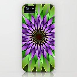 Lavender lotus mandala iPhone Case