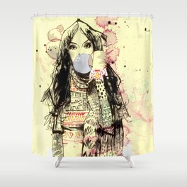 Bubble Gum Bandits Shower Curtain