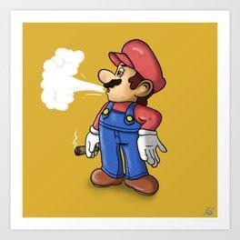 Plumber Smoking Art Print