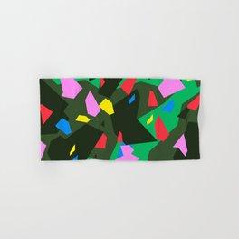 Green\Red\Blue\Black\Grey\Pink Geometric camo Hand & Bath Towel