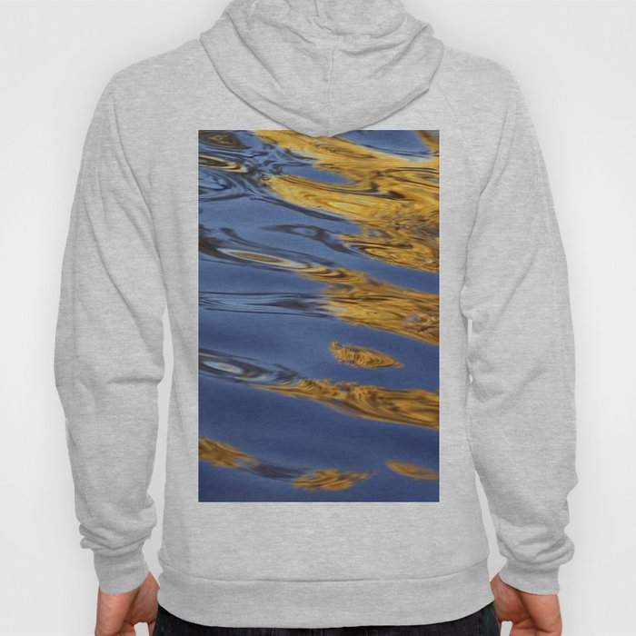 Blue and Gold Water Reflection Hoody