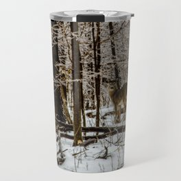 Deer in the Glistening Forest by Teresa Thompson Travel Mug