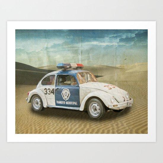 Dune Buggy Fuzz Art Print